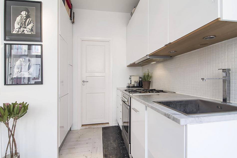 Светлая квартира-студия в скандинавском стиле